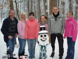 Steve, Jamie and Sophie Burdaky. Caren Hussy. Ashleigh and Shannon Wayte all from Bury England. February 14, 2009