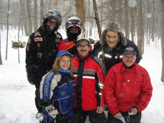 Bruce Barratt, Pam Boldo, Marilyn & Larry Morlock, Mike Doetterl & Rick Brewster from Eden, New York. February 19, 2009,