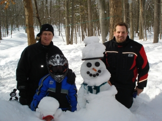 Wade & Ty Munro and Eric Burke all from Chesterfield MI. 1-30-09