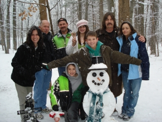 Dale, Steve, Charlena & Chelsie Sierp. Brian, Keith & Debbie Farber. Brieanna Deprez. Jarred Jenca. All from North Vernon, Indiana. 2-14-09