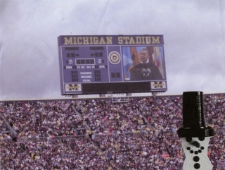 Woody Jr. visiting Michigan Stadium in Ann Arbor, Michigan. Thanks to Lynn Suites for sending it.  For the record, Woody Jr. did not vote for Obama. :-)