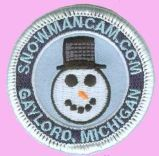 Snowman Cam Patch 2 inch