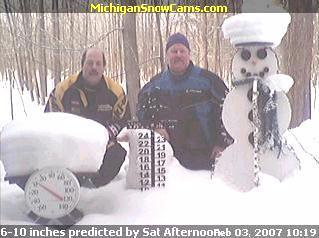 Tom and Chet enjoying the snow in northern michigan.